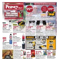 PeaveyMart - Your Canning Headquarters Flyer