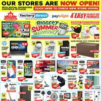 Factory Direct - Biggest Summer Blowout! Flyer