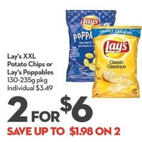 Lay's XXL Potato Chips Or Lay's Poppables