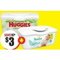Huggies Baby Wipes, Pampers Baby Wipes