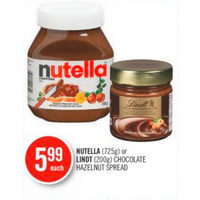 Nutella Or Lindt Chocolate Hazelnut Spread