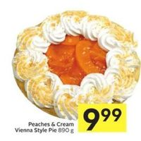 Peaches & Cream Vienna Style Pie