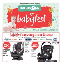 Babies R Us - 2 Weeks of Savings - Babyfest Flyer
