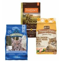 Blue Wilderness, Merrick, Instinct and Wellness Cat Food