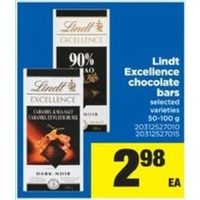 Lindt Excellence Chocolate Bars