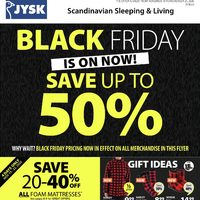 JYSK - Weekly - Black Friday is on Now Flyer