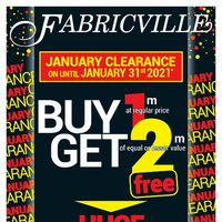 Fabricville - January Clearance Sale Flyer