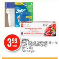 Ziploc Food Storage Containers Or Pc Food Storage Bags