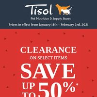 Pet Valu - Tisol - Clearance Sale Flyer