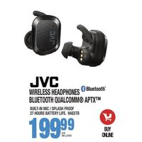 JVC Wireless Headphones Bluetooth Qualcomm APTX