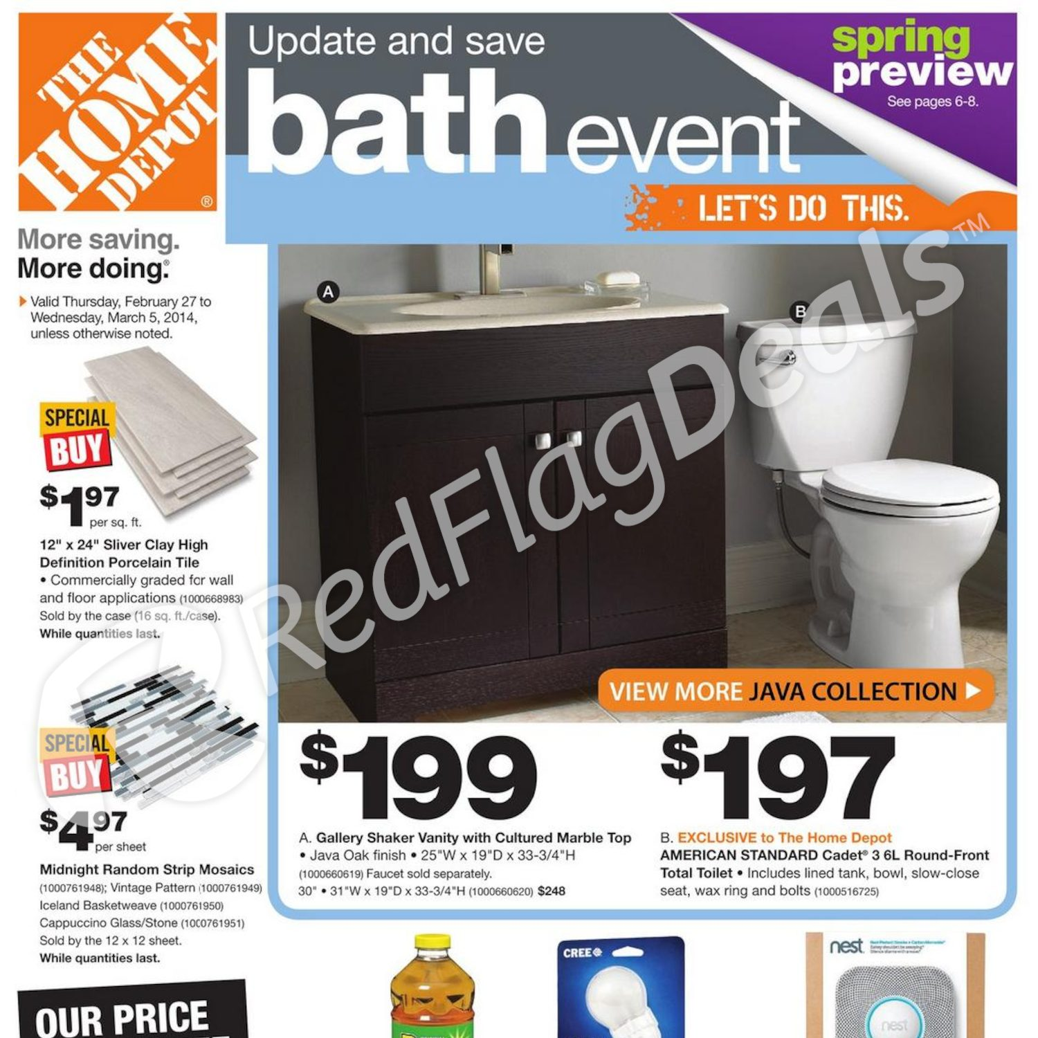 Home Depot Weekly Flyer Weekly Flyer Update & Save Bath Event