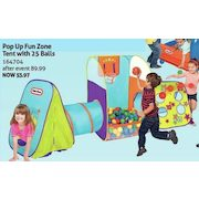 Little Tikes Pop Up Fun Zone Tent with 25 Balls - $53.97 (40% off  sc 1 st  RedFlagDeals.com & Toys R Us: Little Tikes Pop Up Fun Zone Tent with 25 Balls ...