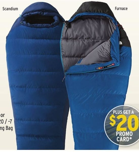 c21432749 Atmosphere: Marmot Scandium 20 / -7 or The North Face Furnace 20 ...