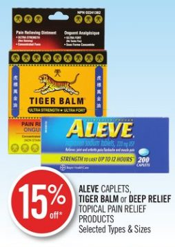 Shoppers Drug Mart: Tiger Balm Topical Pain Relief Products