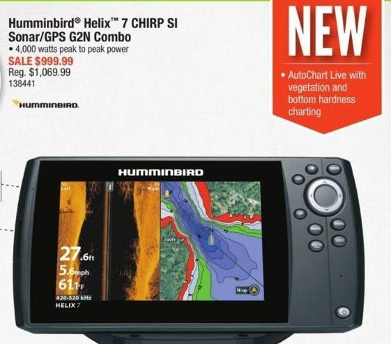 Cabelas: Humminbird Helix 7 Chirp Si Sonar/GPS G2N Combo