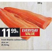 Fresh Atlantic Salmon Fillets - $11.99/lb