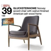 Excellent Home Outfitters Glucksteinhome Norway Accent Chair With Squirreltailoven Fun Painted Chair Ideas Images Squirreltailovenorg