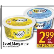 Becel Margarine  - $2.99/427-452 g (Up to $1.50  off)
