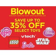 My Little Pony Lego Vtech Barbie Star wars Disney Princess Select Toys - Up to 35% off