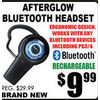 After Glow Bluetooth Headset - $9.99