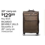 Ricardo Beverly Hills Sausalito 3.0 20-Inch Expandable Upright Luggage With Rfid Protection - $129.99