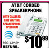 AT&T Corded Speakerphone  - $10.99