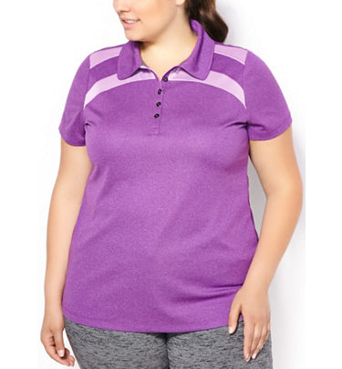 c4c7dd3644a288 Golf Town Active Zone Women s Plus Size Mesh Blocked Double Knit Polo -   18.87 ( 19.13 Off) Active Zone Women s Plus Size Mesh Blocked Double Knit  Polo