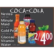 Coca-Cola Nestea, Minute Maid, Gold Peak Or Glaceau Vitamin Water - 2/$4.00