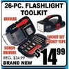 26-Pc Flashlight Toolkit - $14.99