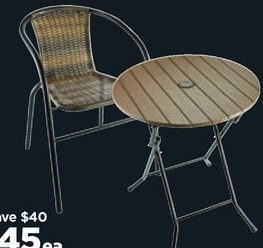 Michaels: Bistro Chair & Tables - RedFlagDeals com