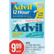 Shoppers Drug Mart: Advil 12 Hour One Dose Tablets, Caplets