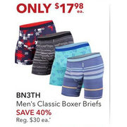 BN3TH Men's Classic Boxer Briefs - $17.98 (40% off)