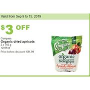 Compass Organic Dried Apricots - $8.99 ($3.00 off)