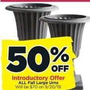 All Fall Large Urns - 50% off