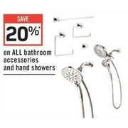 All Bathroom Accessories And Hand Showers - 20% off