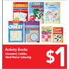 Activity Books Crossword, Sudoku, Word Find Or Colouring - $1.00
