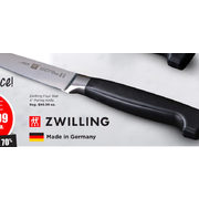 "Zwilling Four Star 4"" Paring Knife - $29.99 (70% off)"