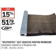 """Weathertex"" Self-Adhesive Roofing Membrane - $51.79 (15% off)"