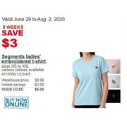 Segments Ladies' Embroidered T-Shirt - $6.99 ($3.00 off)