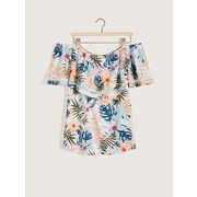 Printed Sleeveless Bardot Swing Top - In Every Story - $19.97 ($29.03 Off)