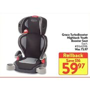 Graco TurboBooster Highback Youth Booster Seat  - $59.97 ($16.00 off)