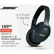 Bose Soundlink ll Wireless Headphones - $189.99 ($80.00 off)