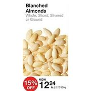 Blanched Almonds - $12.24/lb (15% off)