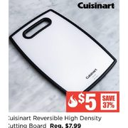"Cuisinart Reversible High Density Cutting Board 11.8"" X 7.9"" Black/white - $5.00 (37% off)"