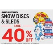 Airhead Snow Discs & Sleds  - 40% off