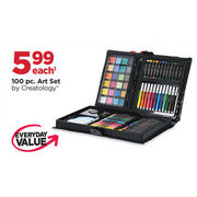100 Pc. Art Set By Creatology  - $5.99