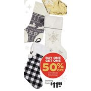 Assorted Christmas Stocking - Starting from $11.99 (BOGO 50% off)