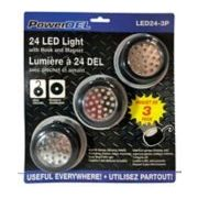 3-pk LED Puck Work Lights  - $9.99
